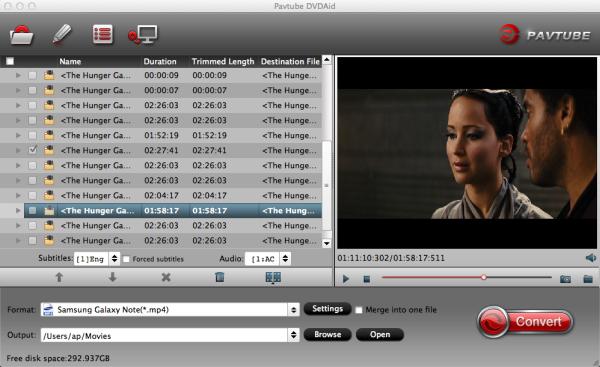 Convert DVD to Galaxy Note 4 on Mac