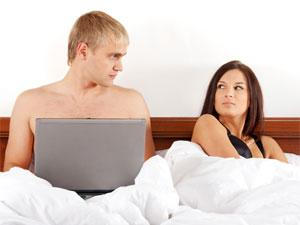 Net Addiction Can Be A Reason Behind Break Up! - busy man from his wife