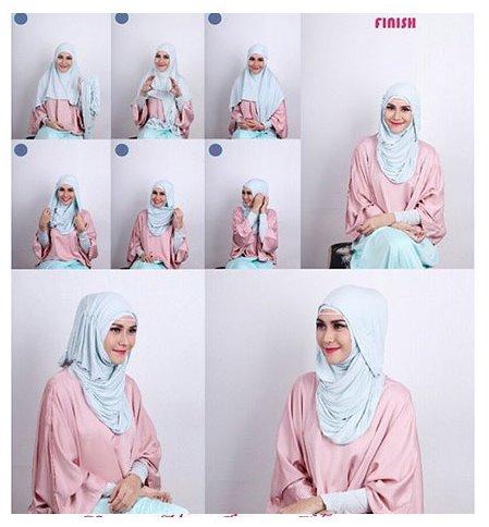 Kumpulan Tutorial Cara Pakai Hijab Modern Ala Zaskia Adya Mecca
