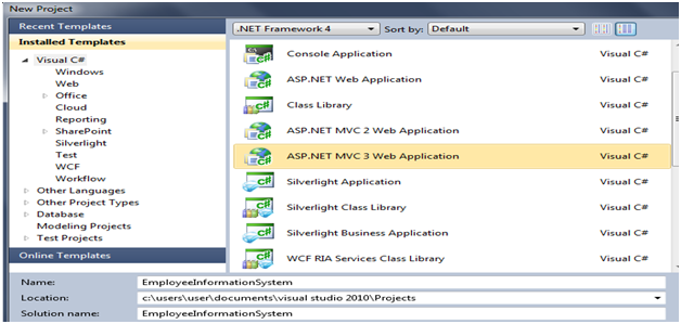Create RDLC Report in Asp net MVC 3 using Dataset with Example in C#