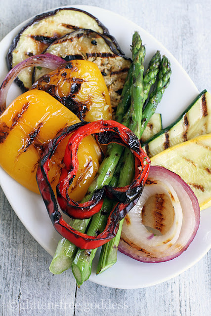 Grilled vegetables are smoky sweet and vegan- not to mention, gluten-free