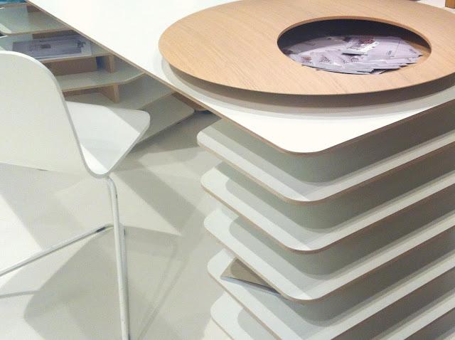 Diseño de escritorios en melamina Escritorios modernos orginales inteligentes