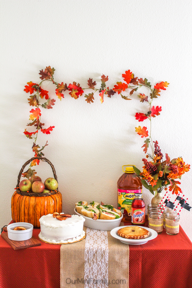 apple harvest party spread