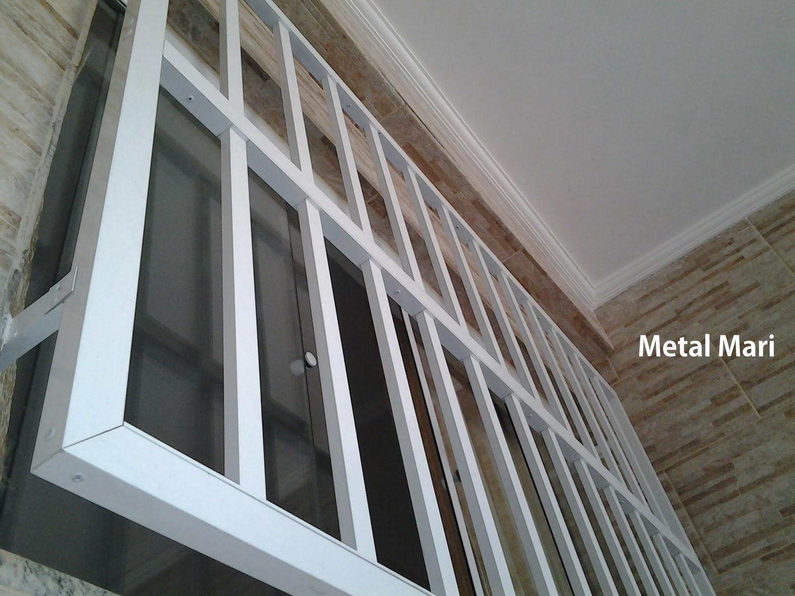 #526979 Metal Mari Esquadrias : Grade de alumínio branco (Metal Mari) 694 Janelas Venezianas De Aluminio Branco Com Grade