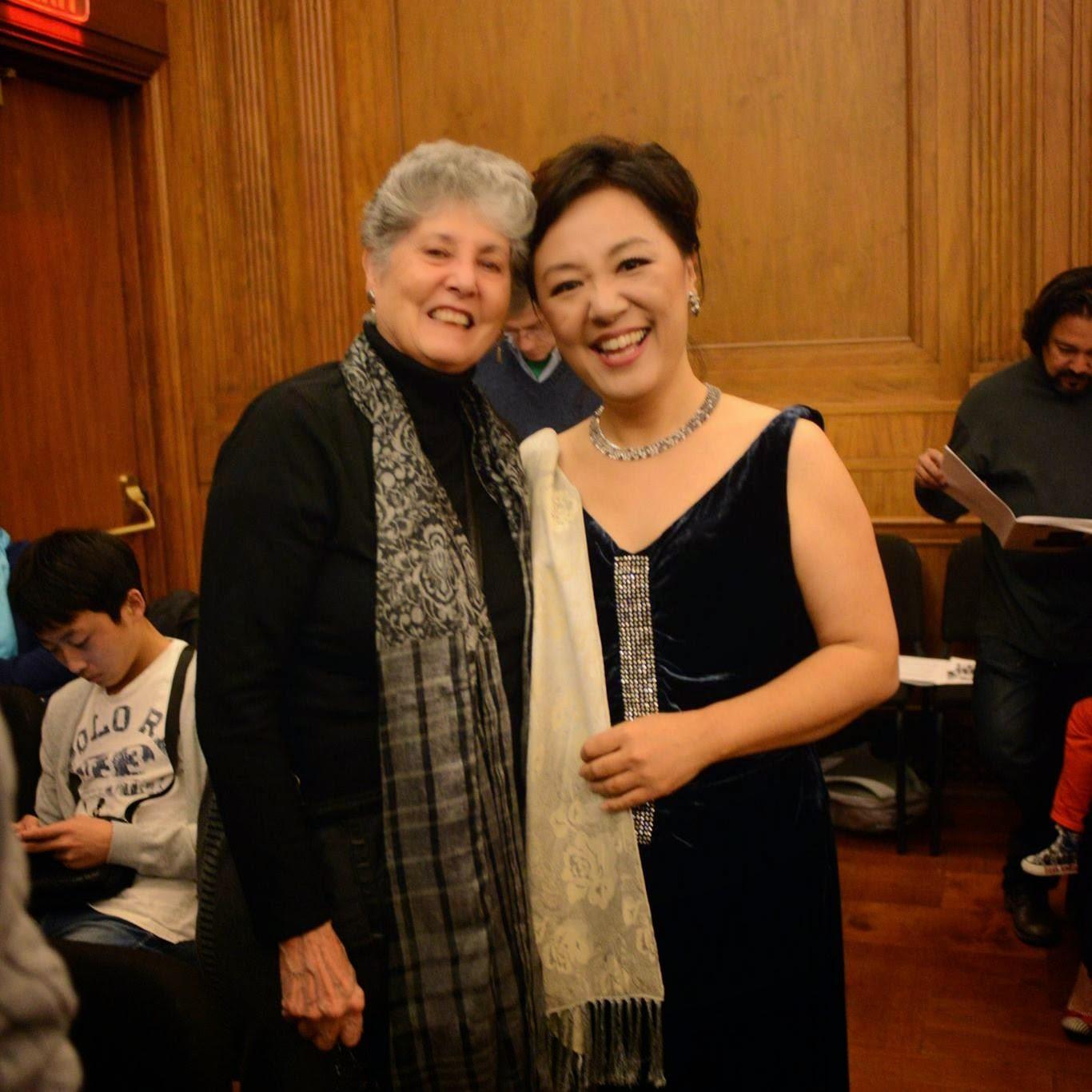 with Benita Valente at Curtis Field Recital Hall