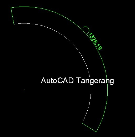Perintah AutoCAD Arc Length Dimension.