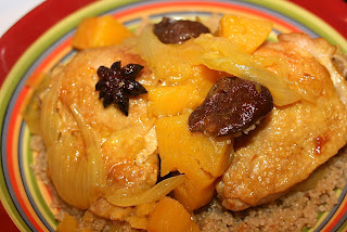 Chicken Tagine with Sweet Potatoes & Prunes