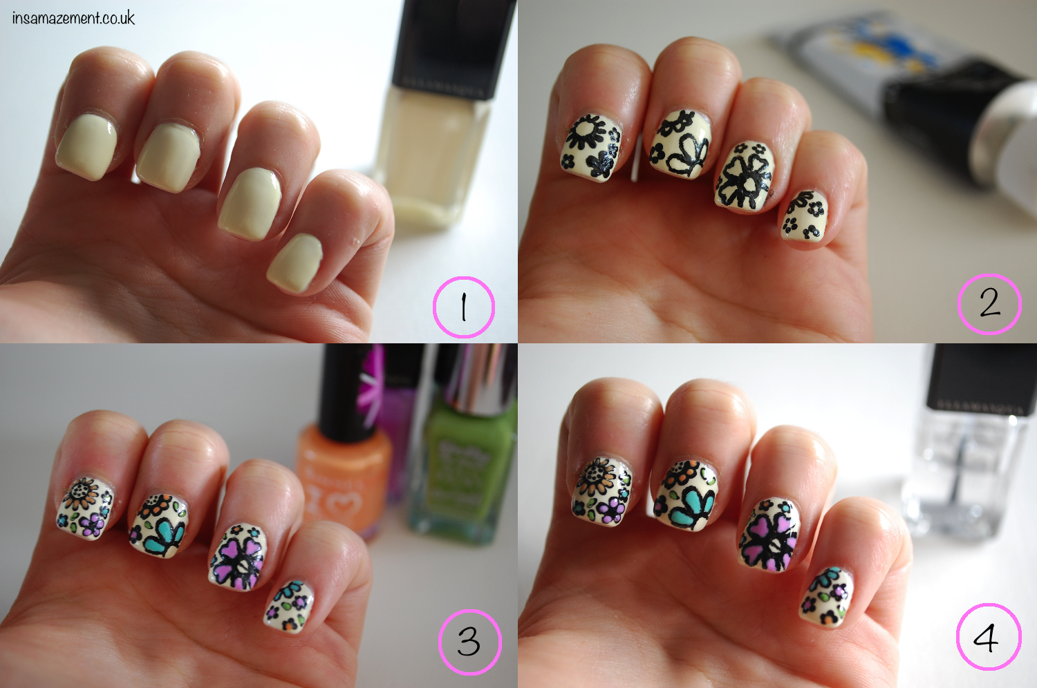 Detailed Floral Nail Art Tutorial