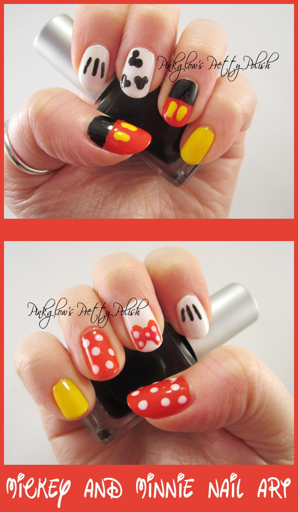Black and orange stripes nail art together with little red riding hood