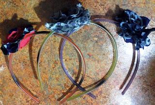 Fabric Flower Headbands on UpcycleFever