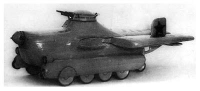 смоделированный летающий танк