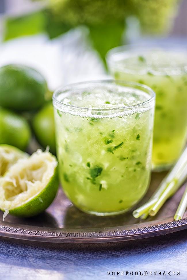 Supergolden Bakes: Cucumber Lemongrass Caipirinha