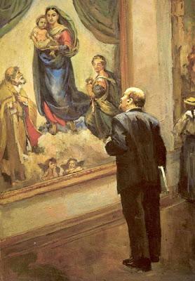 """""""Decreto del Consejo de Comisarios del Pueblo acerca de los monumentos de la República"""" - Lenin (1918) - publicado en el blog LA ESPINA ROJA Lenin+en+la+galeria+de+dresde.+nalbandian"""