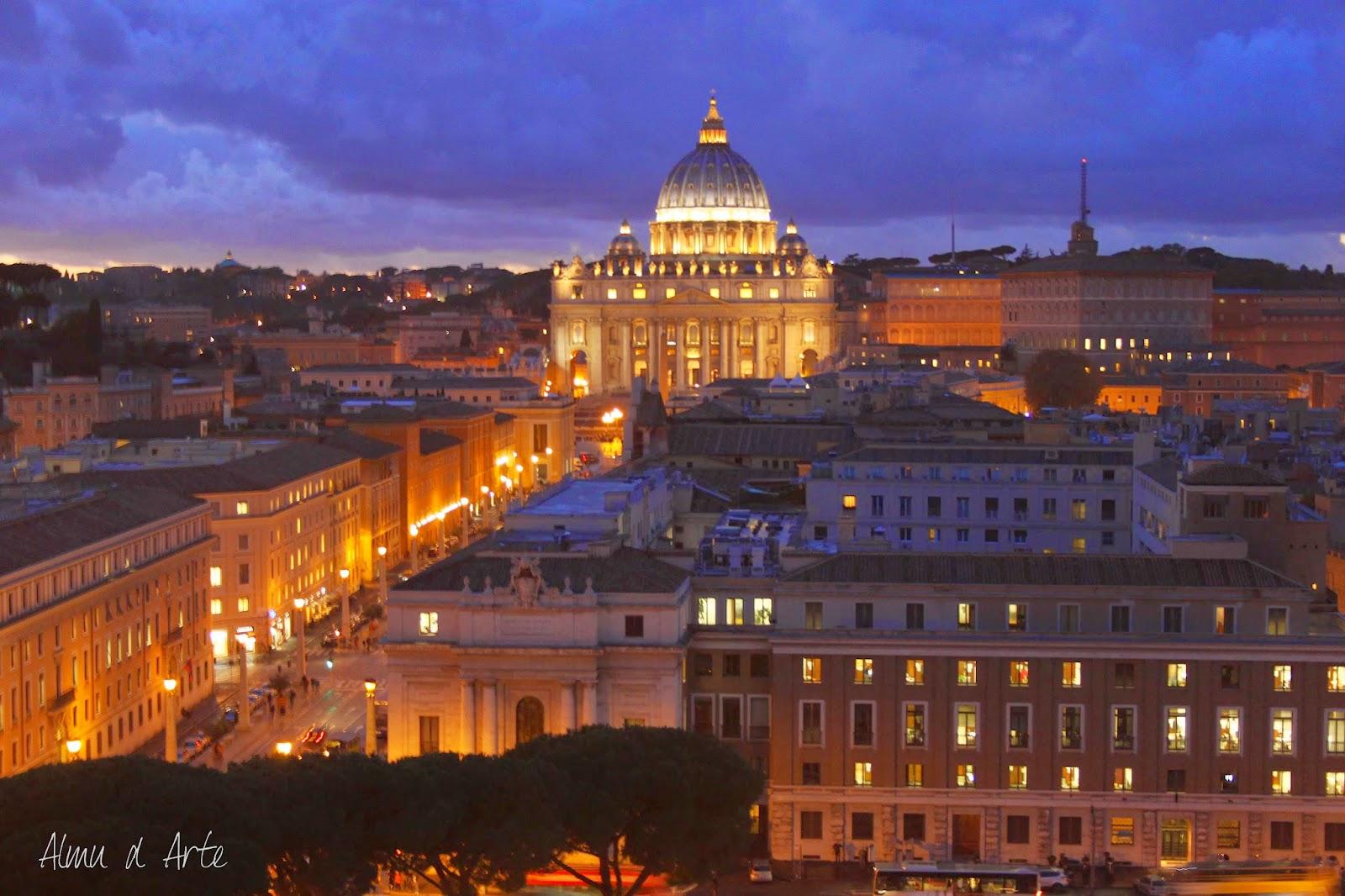 Vista de la Basílica de San Pedro del Vaticano
