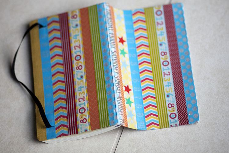 Washitapera c mo decorar una moleskine con washi tape - Como decorar con washi tape ...