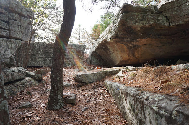 rock fortress at robbers cave ok
