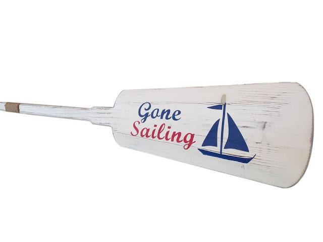 Gone Sailing Rustic Decorative Oar