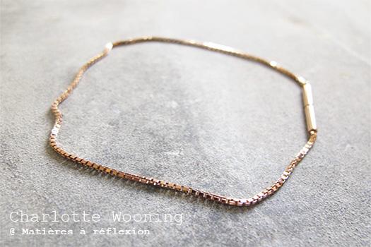 Bracelet vermeil rose Charlotte Wooning