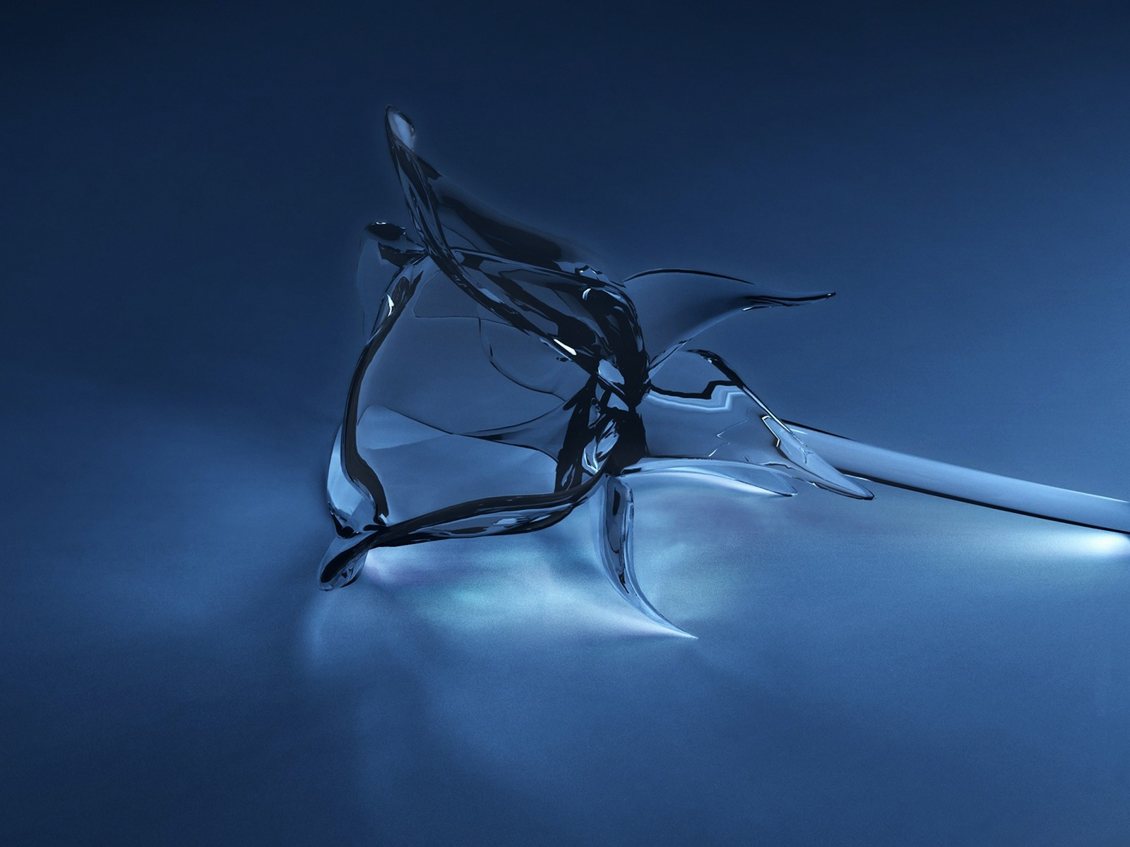 Glass Rose 3D Concept Wallpaper - HD Wallpaper Zone