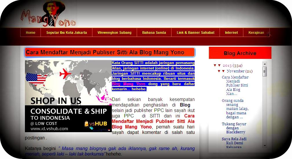 Cara Mendaftar Menjadi Publiser Sitti Ala Blog Mang Yono
