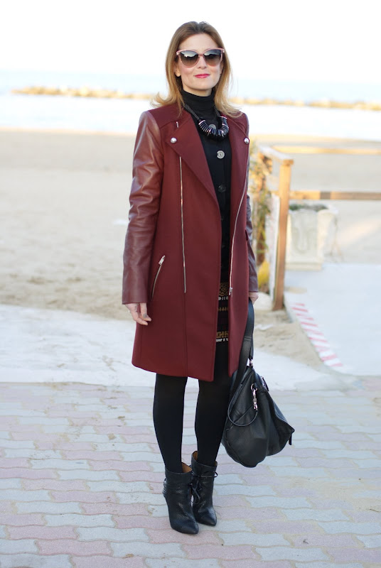 Stella McCartney sunglasses, Zara coat, Iro boots