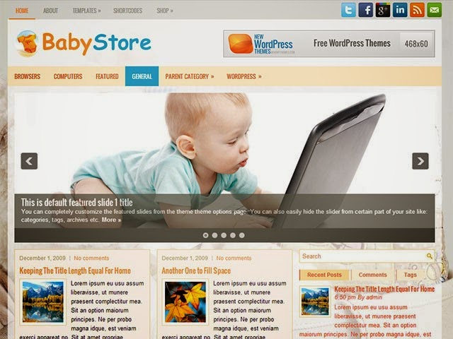 BabyStore - Free Wordpress Theme