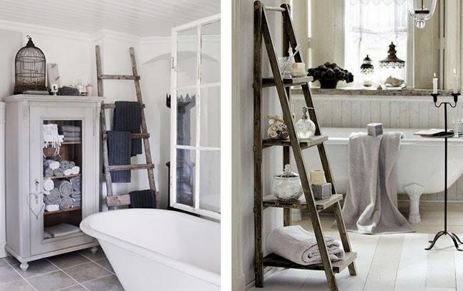 Scaletta In Legno Per Bagno : Arredare vintage le vecchie scale home shabby home