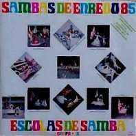 foto da capa do cd sambas de enredo 1985 grupo de acesso