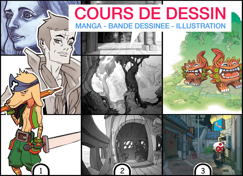 Cours de dessin Manga- illu - BD Genève
