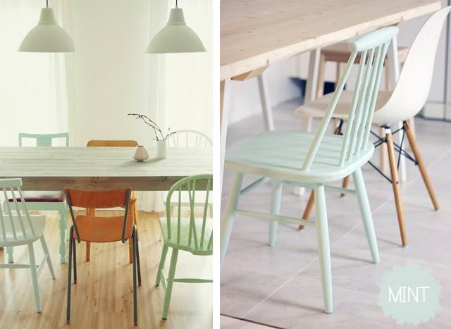 chaises depareillees
