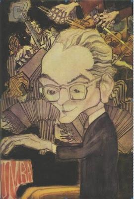 Osvaldo Pugliese (Dibujo Acuarela de H. Ferrer en 1962)
