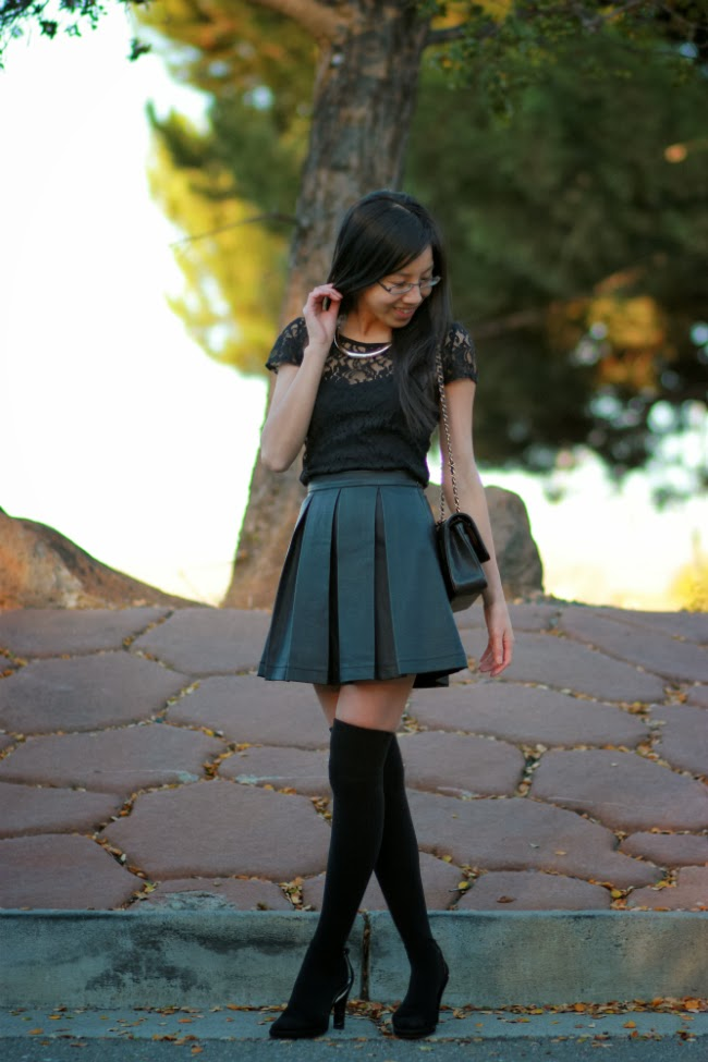 otk socks shoes boots skirt how to winter trend