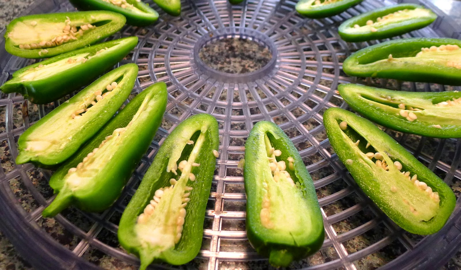 Dehydrating Jalapeno Peppers, preserving