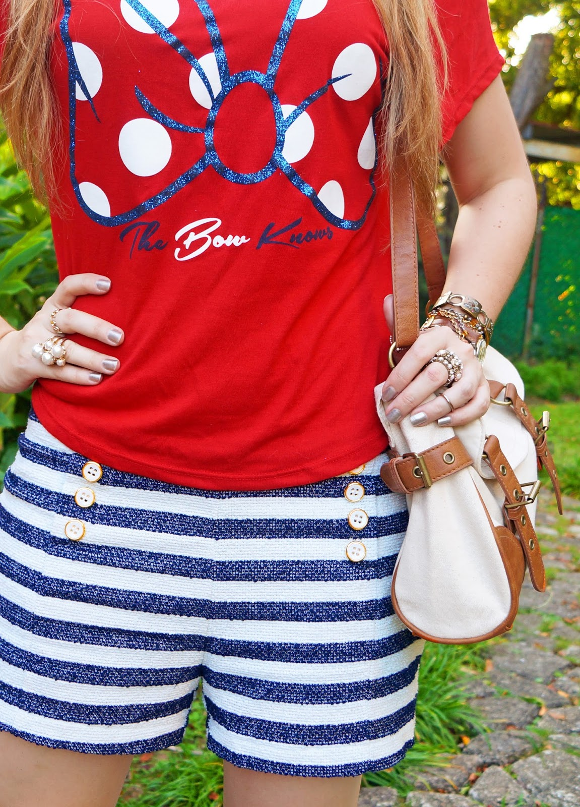 Minnie Tee and Striped Shorts