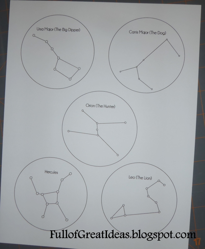 Star Constellations Activities For Kids Include surrounding stars.