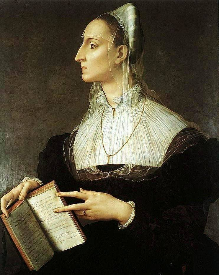 Agnolo Bronzino. Portrait of Laura Battierrei, 1560