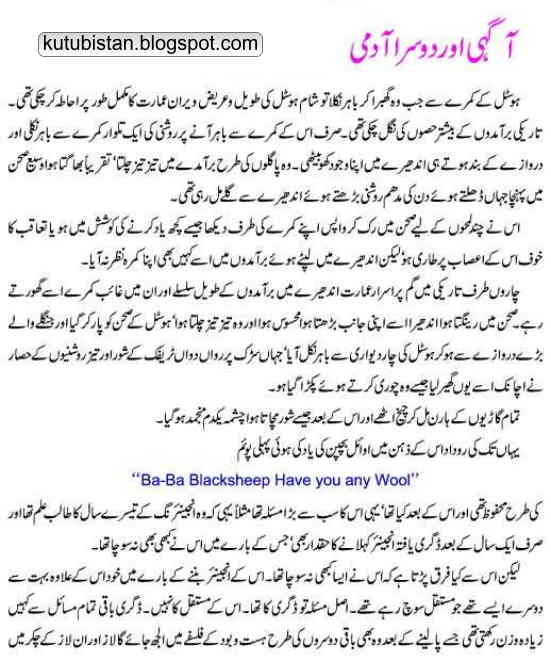 Sample page of Azab-e-Sheher-e-Panah Urdu novel by Anwar Zahidi