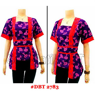 DBT 2783 Baju Blouse Batik Wanita Terbaru 2013