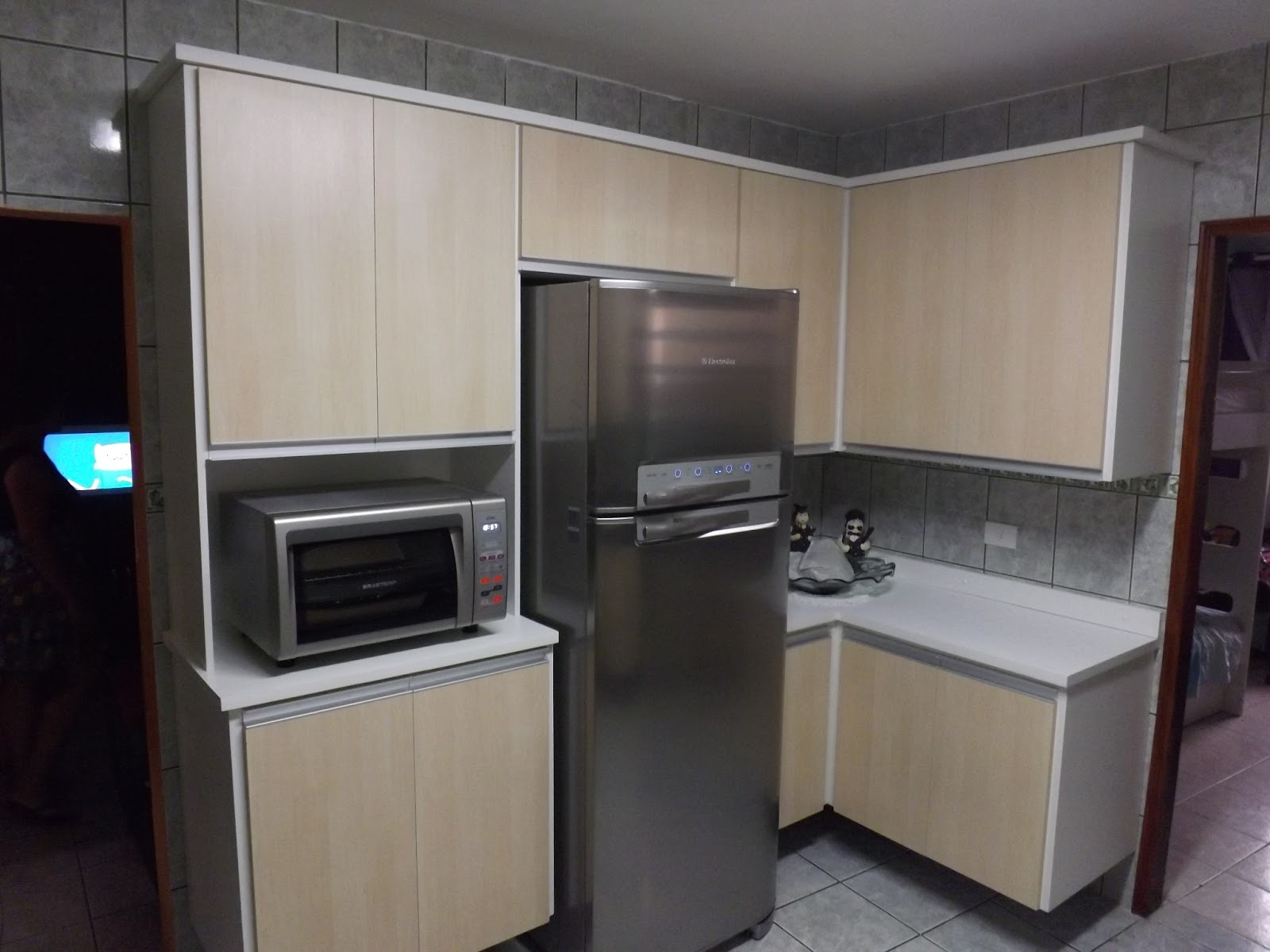 Armario de Cozinha Cozinha Acabamento em MDF Maple Bilbao #746557 1600 1200