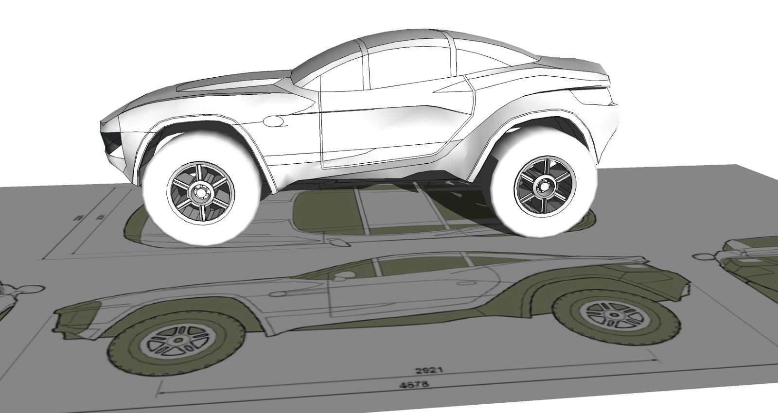 Basic design of a car - Kinda Crappy Right Now But I Think I Have The Basic Body Shape Down