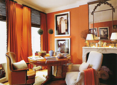 Southgate residential it 39 s the great pumpkin colored for Pumpkin spice paint living room