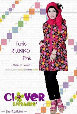 Baju muslim wanita bahan katun trendy image