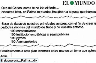 Email de Urdangarin a Diego Torres donde firma como el duque empalmado