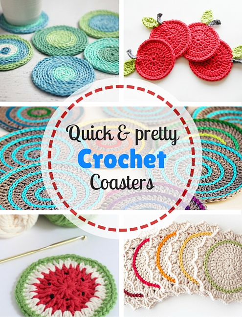Quick & pretty crochet: 5 free crochet coaster crochet patterns | Happy in Red