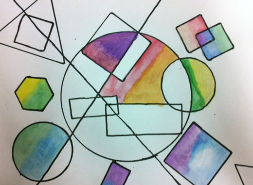 Shape Art : Artisan des arts geometric overlapping shapes
