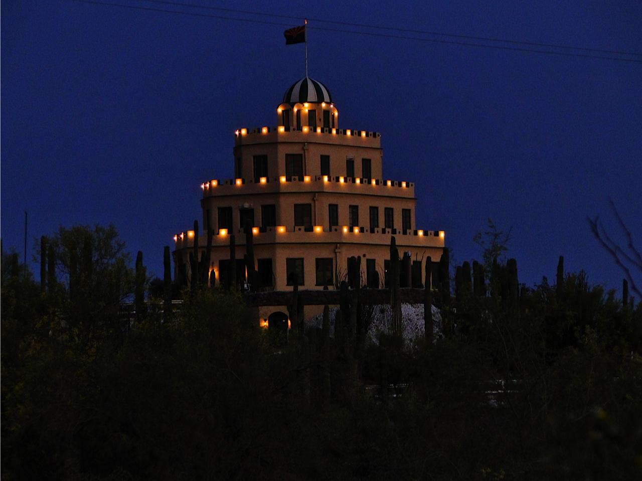 Phoenix Daily Photo Tovrea Castle At Night