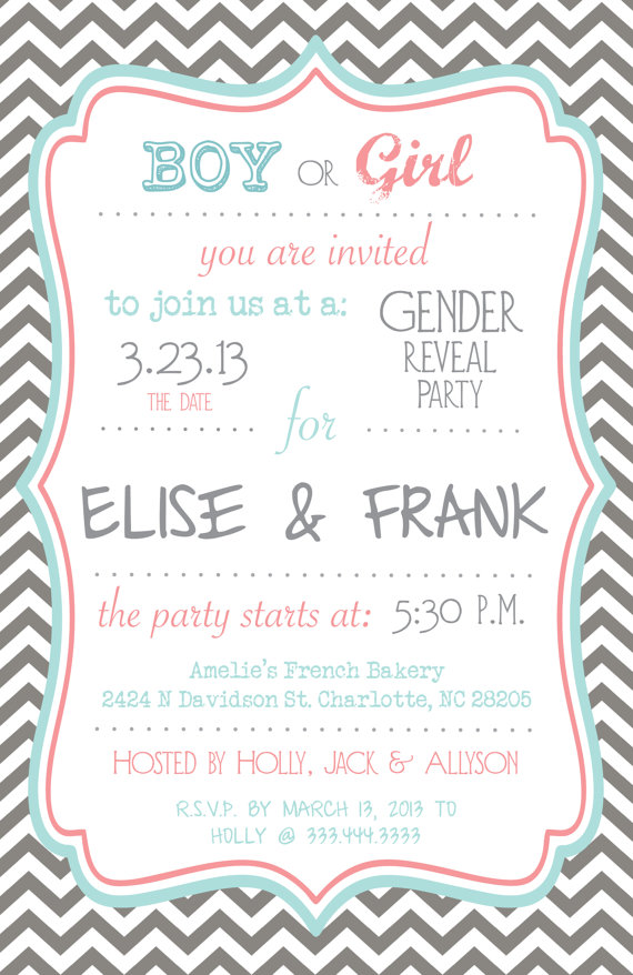Etsy: Gender Reveal Party | Amanda G. Whitaker