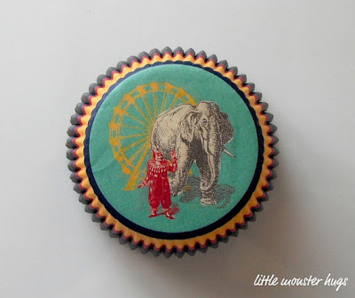 Elefántos muffin papír