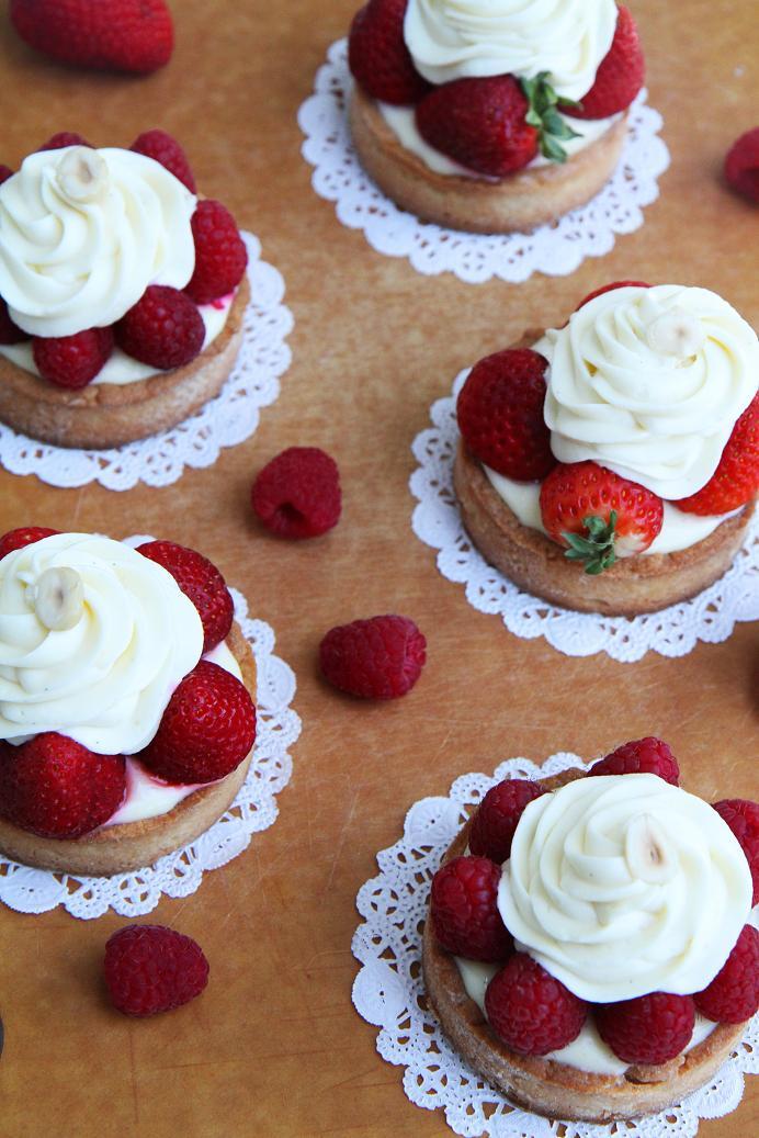 lemon tart with white chocolate and strawberries lemon tart refer
