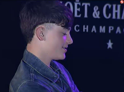 Greyson Chance performing in Manila with his shaved hair